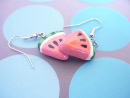 Watermelon Earrings by Kuppiecake