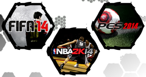 Fifa 14, Pes 2014 and NBA 2K14 by WE4PONX