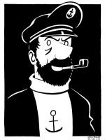 Capitaine Haddock by Falang