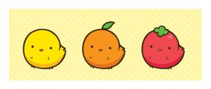 fruit chickens by Yume-fran