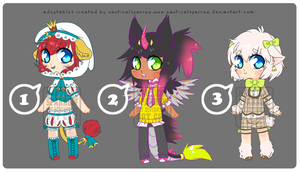 adoptables 10 - CLOSED by NauticalSparrow