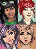 Portraits by MsChamomile