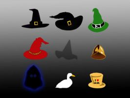 Discworld Hats by funkydpression