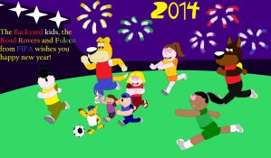 Happy new year with Fuleco and the Backyard Kids by marlon94