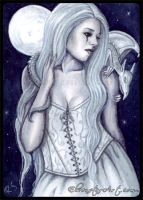 ACEO -- Moonlit Companions by ElvenstarArt