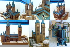 Hogwarts Castle paper model WIP 4 by ana-wandmaker