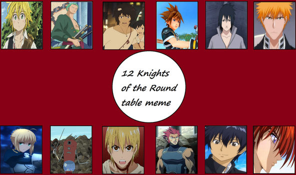 Meme favourites by rafaoxiii on deviantart for 12 knights of the round table characters