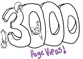 3000 page views WIP by HellForeSoma-Yuki