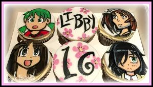 Anime Cupcakes by gertygetsgangster