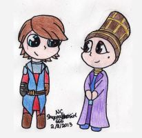 SW:TCW Anakin and Padme Chibis by SkywalkerGirl666