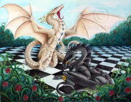 Queen takes King by acrylicdragon