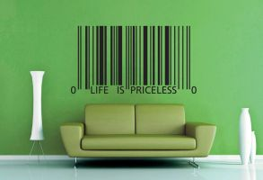 Life is Priceless Wall Decal by GeekeryMade