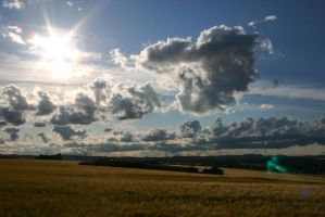 Sky and Fields Stock 1 by LuDa-Stock
