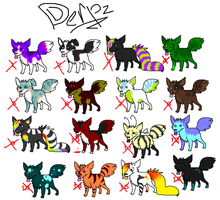 Derp Set 1 - ALL SOLD by Vertok-Adopts