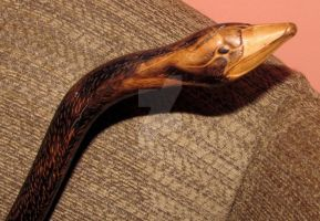 Carved Duck Cain by Wileybill