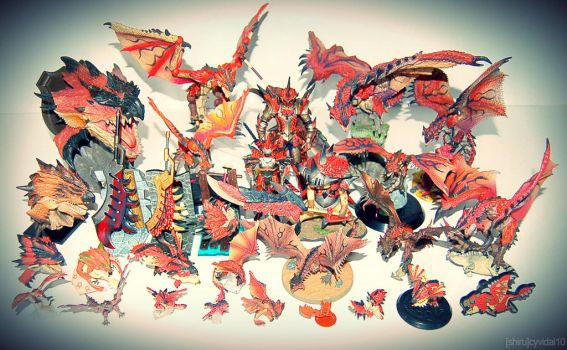 Rathalos Figure Collection by cyevidal10
