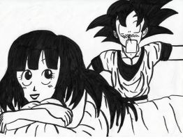 Goku et Chichi by Agolem