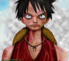 Luffy gear Untooned Papiel by curi222