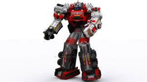 Flash Point megazord in 3D by Pamansyns