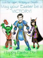 WoW Happy Easter Dad by Artemis015