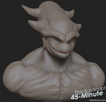 Frieza 3rd Form - 45-Minute Practice Sculpt by GaryStorkamp