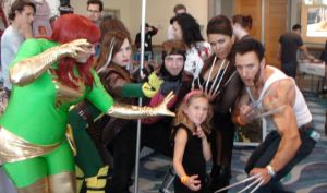 Phoenix, Rogue, Gambit, Deathstrike, and Wolverine by trivto