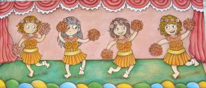 girls dancing by dunki-sabri