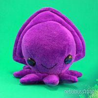 INKY the 6-inch Cuttlefish Organic Art Plush by NebulousFrog