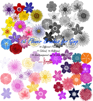 Flower Brushes for GIMP by kaisaki1342