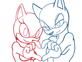 Sonic Couples Base - Heart Hands by Kimmi-suTT