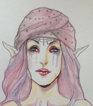 Watercolor elf by FOX-hime