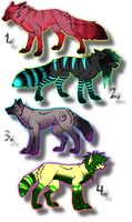 Cheap Wolf/Canine Adoptables! CLOSED! by DailyAdoptables