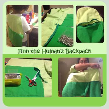Finn the human's Backpack by Tanis711