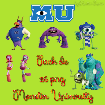 Pack de 26 png MONSTER UNIVERSITY by RoohEditions
