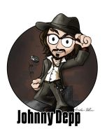 Cartoon Celebs - Depp by aternox