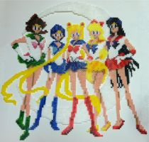 Perler Art: Sailor Scouts by thewiredslain