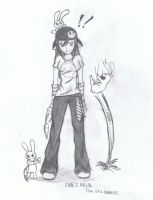 Narzaria_me_ and evil bunnies by Narzaria