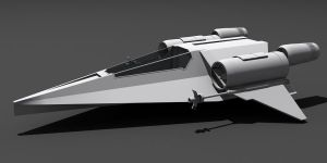 Star Wars Incom Fighter 3D wip by AdamKop