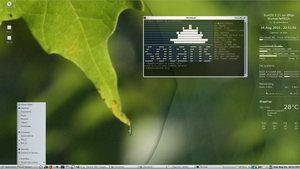 OpenIndiana Screenshot with Conky by rvc-2011