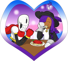 UndertaleMS - Papyrus and Claire by UMSAuthorLava