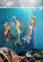 Queens Mermaids by seawaterwitch