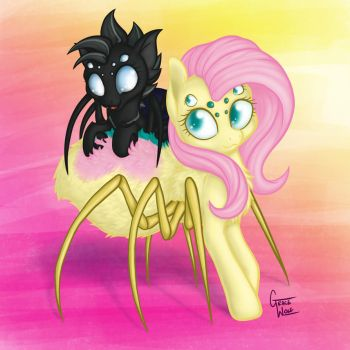 Spidershy and Crucible by gracewolf