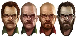 Walter White Transformation by AznKyuubi