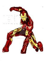 Iron Man colour test by CharlieK-33