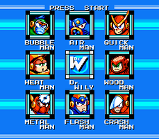 Mega Man 2 Stage Select remake by SchAlternate