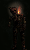 FNAF -Decayed Springtrap [Commission] by Christian2099
