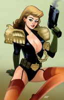 Judge Anderson Pin-up by DarthTerry