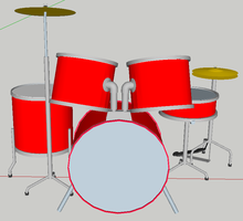 Sketchup drums 1 by turnbuckle