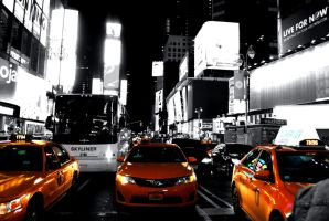 Times Square, Yellow Taxi's! by Kellyx96