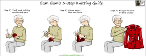 Gam Gam's 3 Step Knitting Guide! by Terraced-Fields